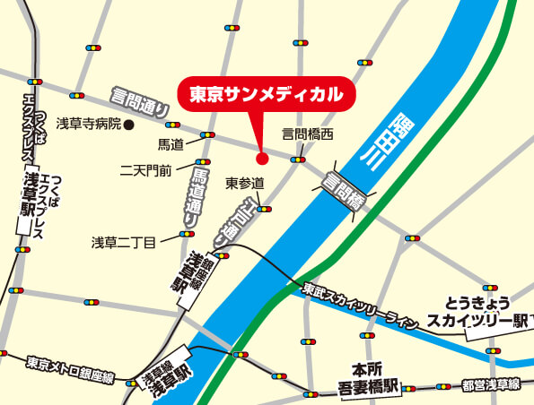 東京サンメディカル地図